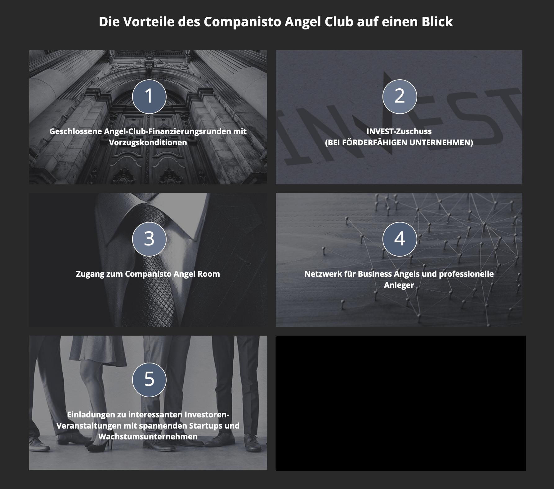Companisto Angel Club Vorteile