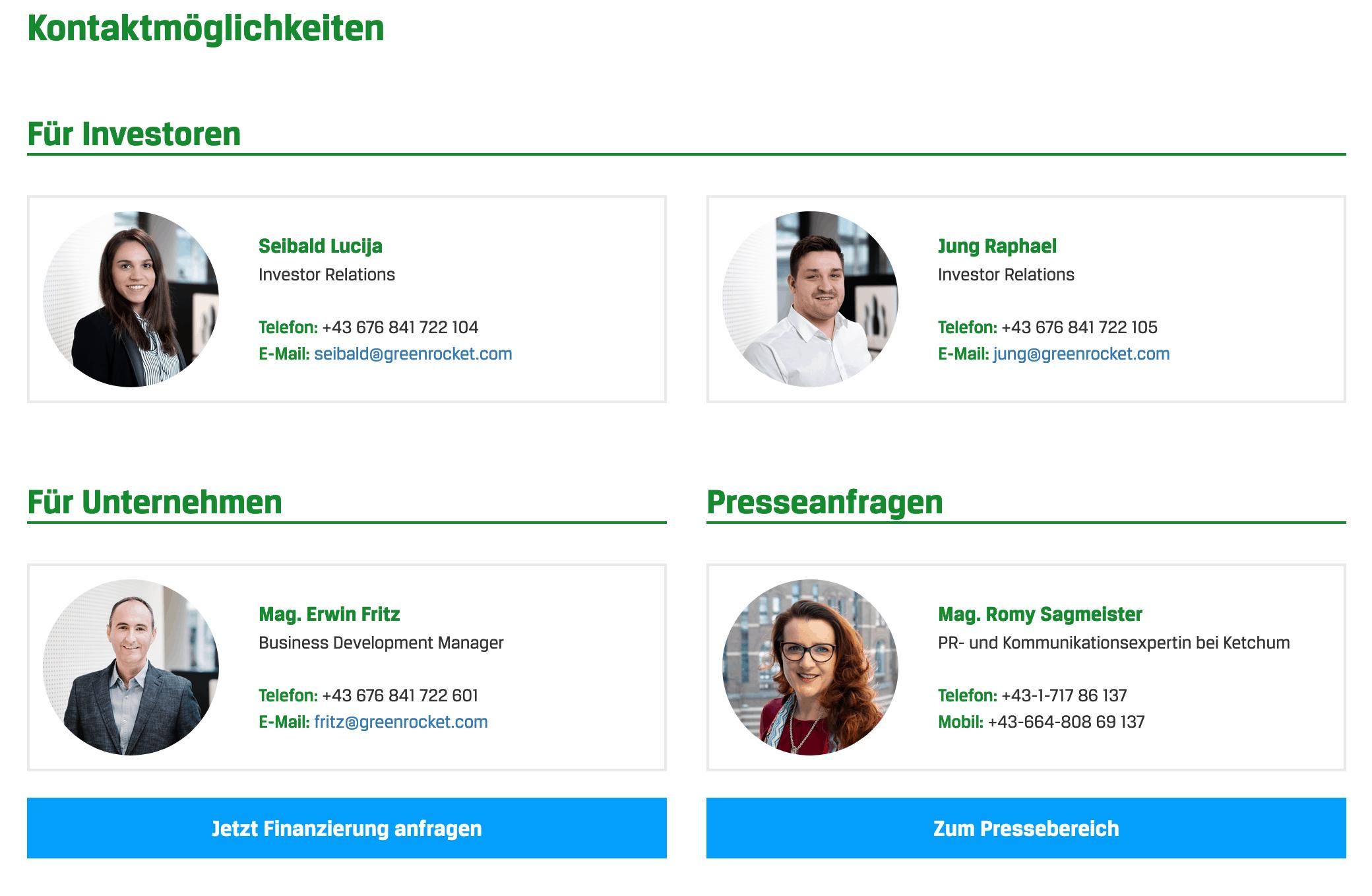 Green Rocket Support Kontakt